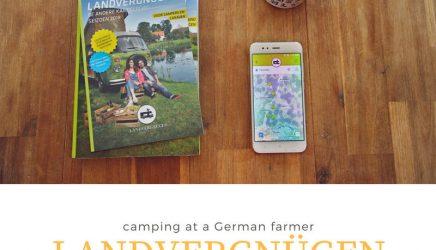 Landvergnügen: kamperen met camper of caravan bij een duitse boer