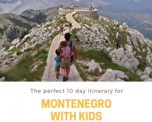 Montenegro met kinderen: de beste route voor een 10 dagen rondreis