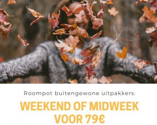 Roompot buitenkansje: een weenkendje weg voor 79€ bij Roompot!